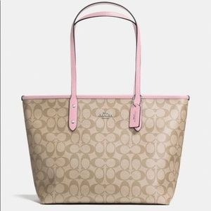 Coach Bags - XSOLD City Zip Tote Signature Light Pink Carnation